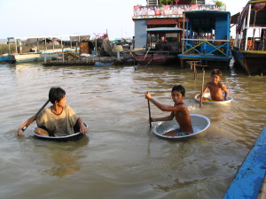 Playing time. Tonle Sap, Siem Reap 2007